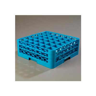 Carlisle RG36-214 - Opticlean™ 36-Compartment Glass Rack W/ 2 Extenders, Carlisle Blue - Pkg Qty 3