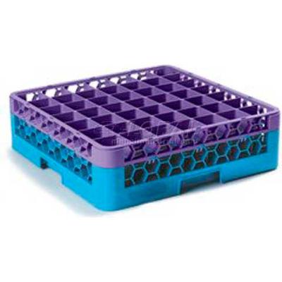 Carlisle RG49-1C414 - OptiClean™ 49-Compartment Glass Rack W/1 Extender, Lavender-Blue