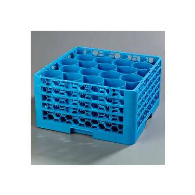 Carlisle RW20-314 - Opticlean Newave 20-Compartment Glass Rack W/ 4 Extenders, Carlisle Blue - Pkg Qty 2