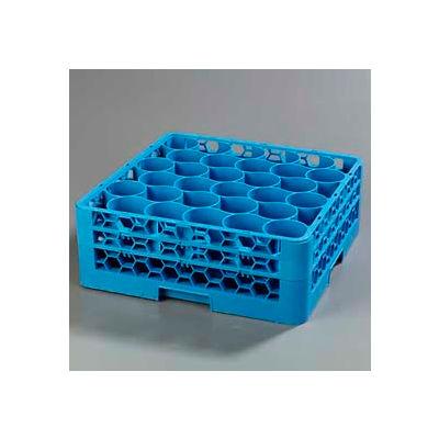 Carlisle RW30-114 - Opticlean Newave 30-Compartment Glass Rack W/ 2 Extenders, Carlisle Blue - Pkg Qty 3
