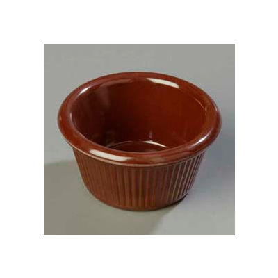Carlisle S28269 - Fluted Ramekin 3 Oz., Chocolate - Pkg Qty 48