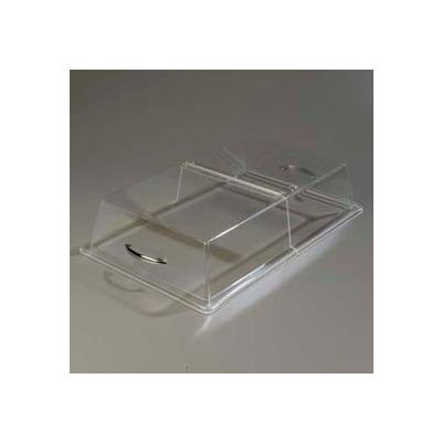 """Carlisle SC2507 - Pastry Tray Cover, 26"""" x 18"""" x 4"""", Clear Acrylic, Polished Chrome Handle"""