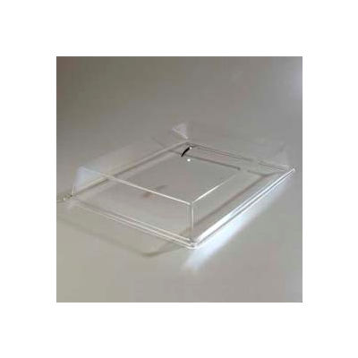 """Carlisle SC2707 - Pastry Tray Cover 20"""" x 12"""" x  4"""" Clear Acrylic, Chrome Handle"""