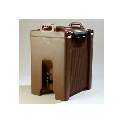 Carlisle XT1000001 - Cateraid Beverage Server, 10 Gallon, Insulated, Wide Sure-Latch™, Brown
