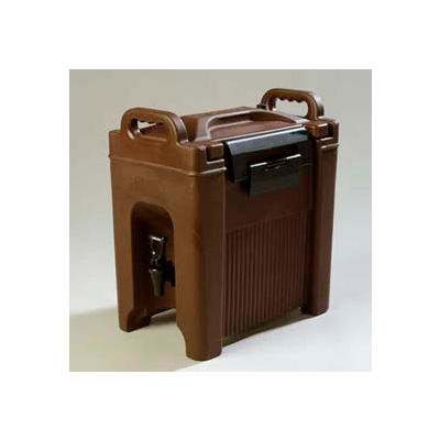 Carlisle XT250001 - Cateraid Beverage Server, 2-1/2 Gallon, Insulated, Wide Sure-Latch™, Brown