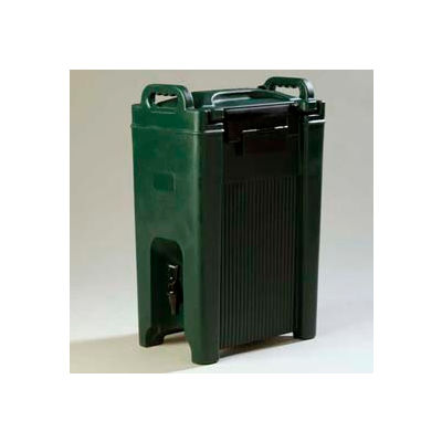 Carlisle XT500008 - Cateraid Beverage Server, 5 Gallon, Insulated, Wide Sure-Latch Forest Green