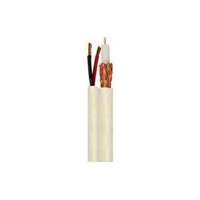 Convergent 5015WH1S RG59/U + 18/2 Siamese Camera Cable CMR 1,000 Ft. Spool White