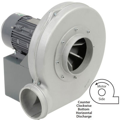 Americraft Aluminum Blower, HADP12, 3 HP, 1 PH, TEFC, CCW, 115/230V, Bottom Horizontal