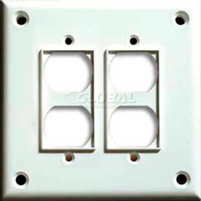 Cortech USA, TPDD, High Security Double Duplex Cover Plate, W/Hardware 1/Pack