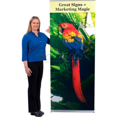 """Flexi Banner Stand, Single Sided, 24""""W"""