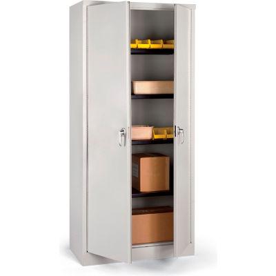 "Parent Metal Heavy-Industrial Premium Storage Cabinet - 36X18X78"" - Light Gray"