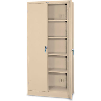 """Tennsco Deluxe All-Welded Storage Cabinet, 36""""Wx24""""Dx78""""H, Putty"""