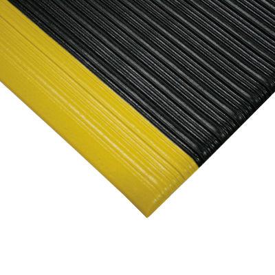 "NoTrax® Airug® Anti Fatigue Mat 5/8"" Thick 3' x 12' Black/Yellow Border"