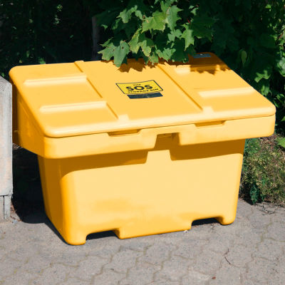 """Global Industrial™ SOS Outdoor Storage Container 42"""" x 29"""" x 30""""  - 11 Cu. Ft. - Yellow"""