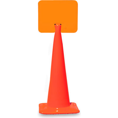 "Snap-On Signs For Traffic Cones - 14""Wx10""H - Blank"