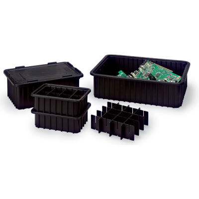 LEWISBins CDC2040-XL Snap-On Lids For Conductive Divider Boxes DC2000 Series