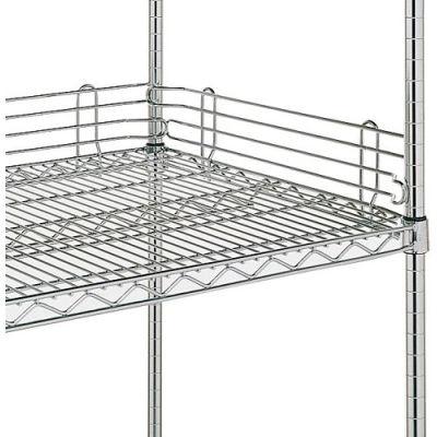 "4""H Shelf Side Ledge For Open Wire Shelving - 18"""