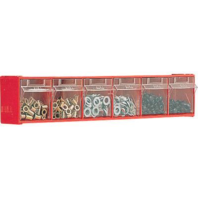 "Bott 02513017 Tilt Bins - 23-5/8 X 3-5/8 X 4-1/2"" - (6) Bins - With Perfo Panel Fixing Bracket"