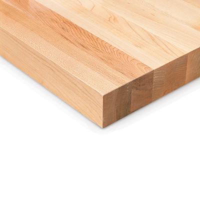 """Global Industrial™ 120""""W x 36""""D x 1-3/4""""H Maple Butcher Block Square Edge Workbench Top"""