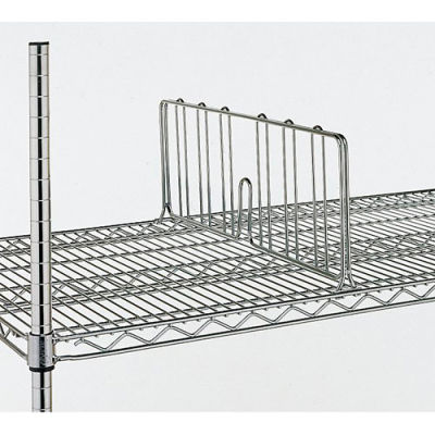 """Metro 8""""H Shelf Dividers For Open-Wire Shelving - 24"""""""