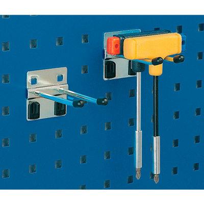 """Bott 15200270 Double Straight Hooks For Perfo Panels - Package Of 10 - 3""""L"""