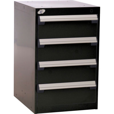 """Rousseau Four-Drawer Pedestal For Modular Mobile Cabinets - 6"""" Front Drawer Heights"""