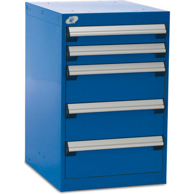 """Rousseau Five-Drawer Pedestal For Modular Mobile Cabinets - 3"""",6"""" Front Drawer Heights"""
