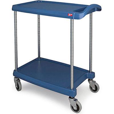 """Metro myCart™ Utility Cart With Chrome Posts, 2 Shelf, 31-1/2""""Lx18-5/16""""W, Blue"""