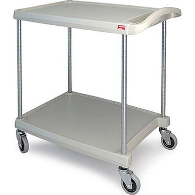 """Metro myCart™ Utility Cart With Chrome Posts, 2 Shelf, 34-3/8""""Lx23-7/16""""W, Gray"""