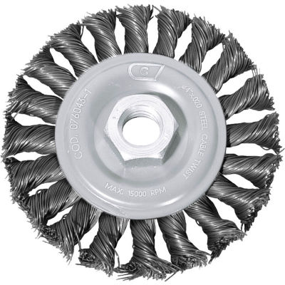 "Century Drill 76043 Angle Grinder Wire Wheel 4"" Dia. Steel Cable Twist"