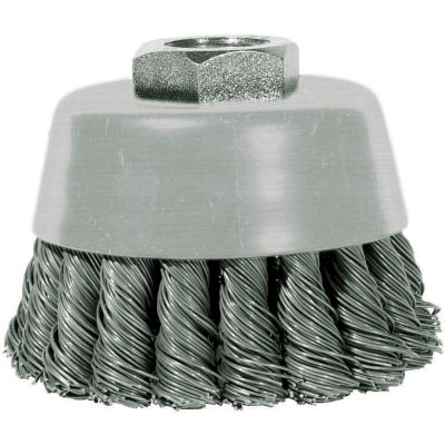 """Century Drill 76046 Angle Grinder Cup Brush 3"""" Dia. Knot Steel 0.02"""""""