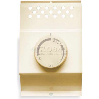 """Cadet® Thermostat For Baseboard Heater BTF1A, 2-1/8""""L X 3-3/4""""W X 6""""H, Almond"""