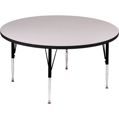 """Activity Tables, 42""""L x 42""""W, Standard Height, Round - Gray Granite"""