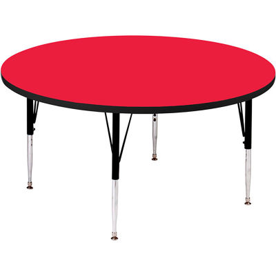 """Activity Tables, 60""""L x 60""""W, Standard Height, Round - Red"""