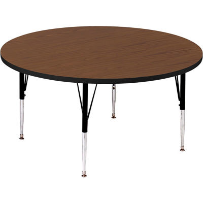 "Activity Tables, 48""L x 48""W, Standard Height, Round - Walnut"