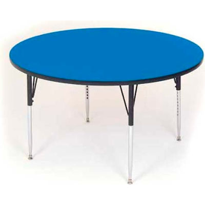 """Activity Tables, 48""""L x 48""""W, Standard Height, Round - Blue"""