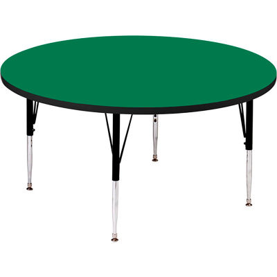 """Activity Tables, 48""""L x 48""""W, Standard Height, Round - Green"""