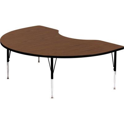 """Activity Tables, 72""""L x 48""""W, Standard Height, Kidney - Walnut"""