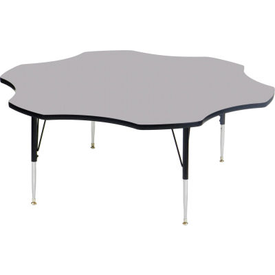 "Activity Tables, 60""L x 60""W, Standard Height, Flower - Gray Granite"