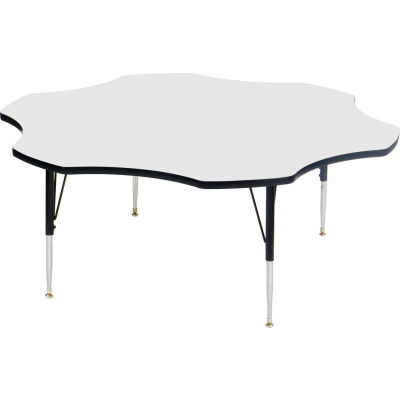 """Activity Tables, 60""""L x 60""""W, Standard Height, Flower - White"""