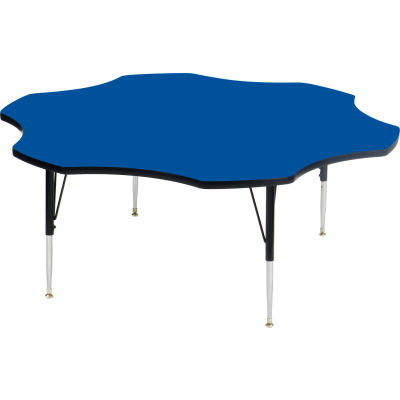 "Activity Tables, 60""L x 60""W, Standard Height, Flower - Blue"