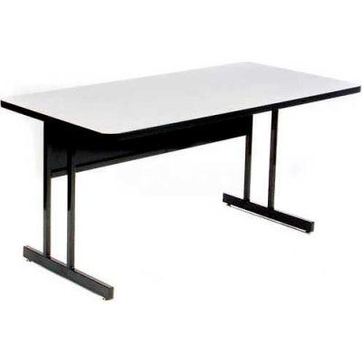 "Correll Training Table - Laminate - 24"" x 60"", Gray Granite"