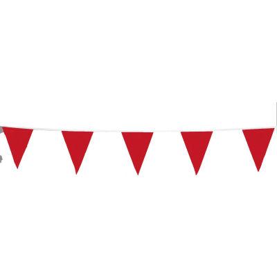 Cortina Guardian™ Roof Warning Line Perimeter Vinyl Pennant, 105' L, Red, 03-400-105 - Pkg Qty 10