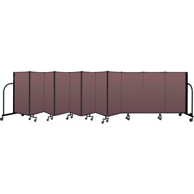 """Screenflex Portable Room Divider 11 Panel, 4'H x 20'5""""L, Fabric Color: Mauve"""
