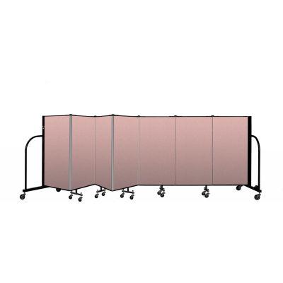"""Screenflex Portable Room Divider 7 Panel, 4'H x 13'1""""L, Vinyl Color: Mauve"""