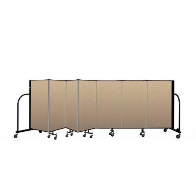 """Screenflex Portable Room Divider 7 Panel, 4'H x 13'1""""L, Vinyl Color: Oatmeal"""