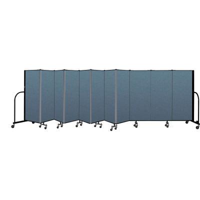 "Screenflex Portable Room Divider 11 Panel, 5'H x 20'5""L, Fabric Color: Blue"