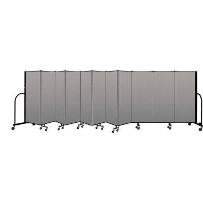 """Screenflex Portable Room Divider 11 Panel, 5'H x 20'5""""L, Vinyl Color: Gray"""