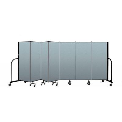 "Screenflex Portable Room Divider 7 Panel, 5'H x 13'1""L, Vinyl Color: Blue"