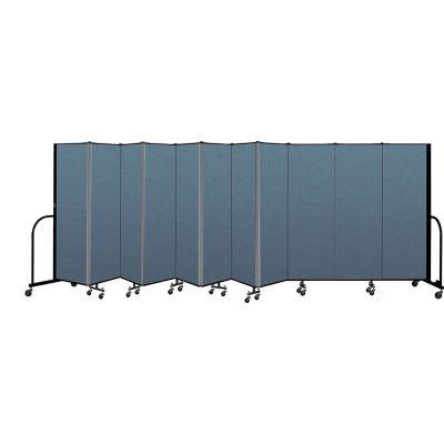 "Screenflex Portable Room Divider 11 Panel, 6'H x 20'5""L, Fabric Color: Blue"